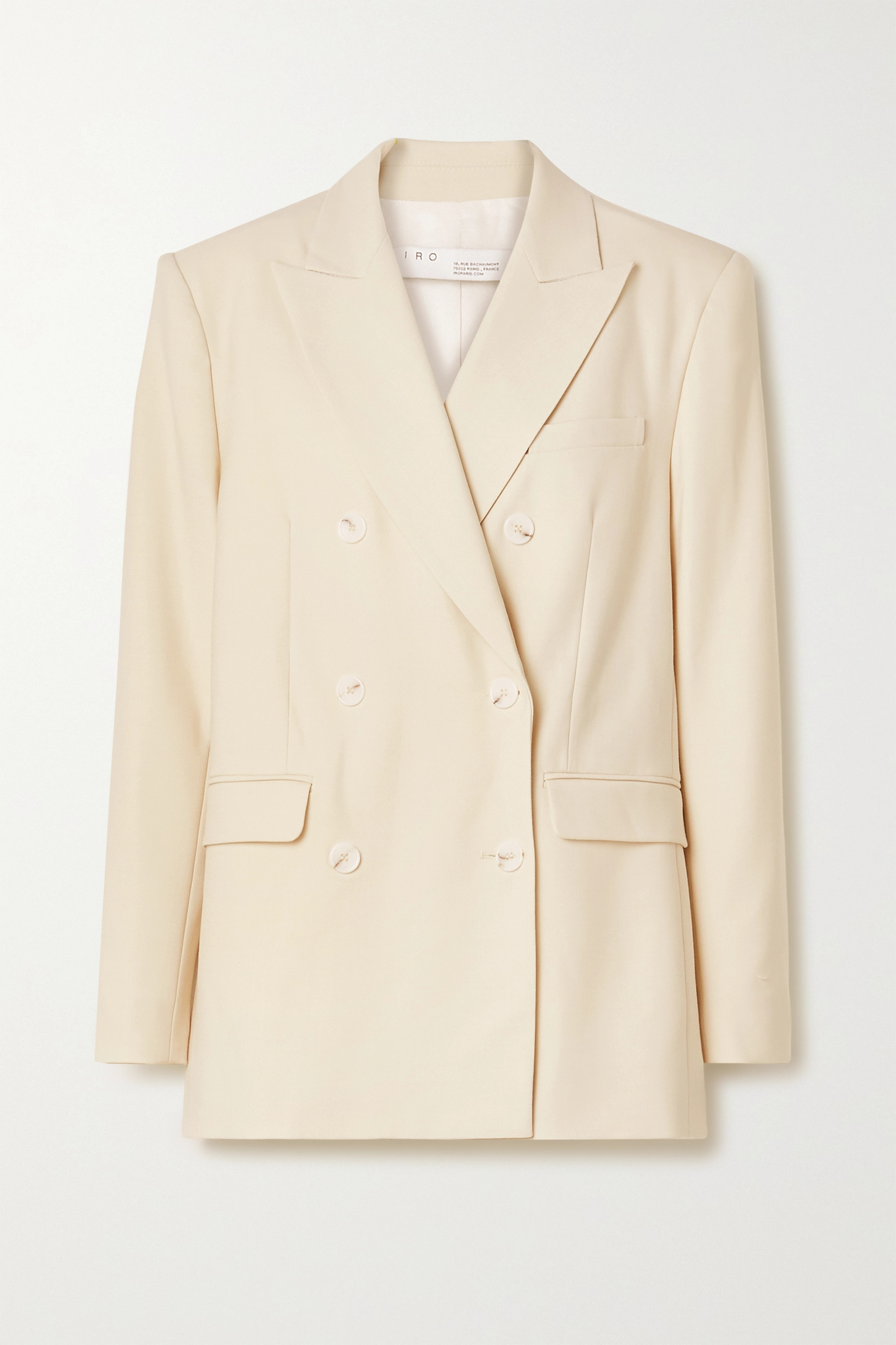 Ecru Rachian Double-breasted Twill Blazer | Iro