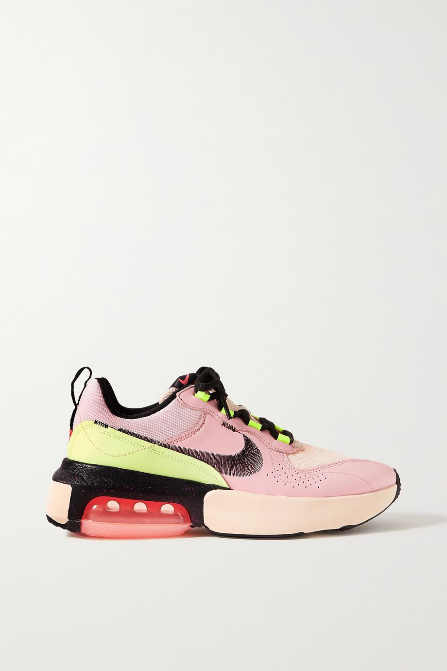 Nike Air Max Verona embroidered leather and mesh sneakers