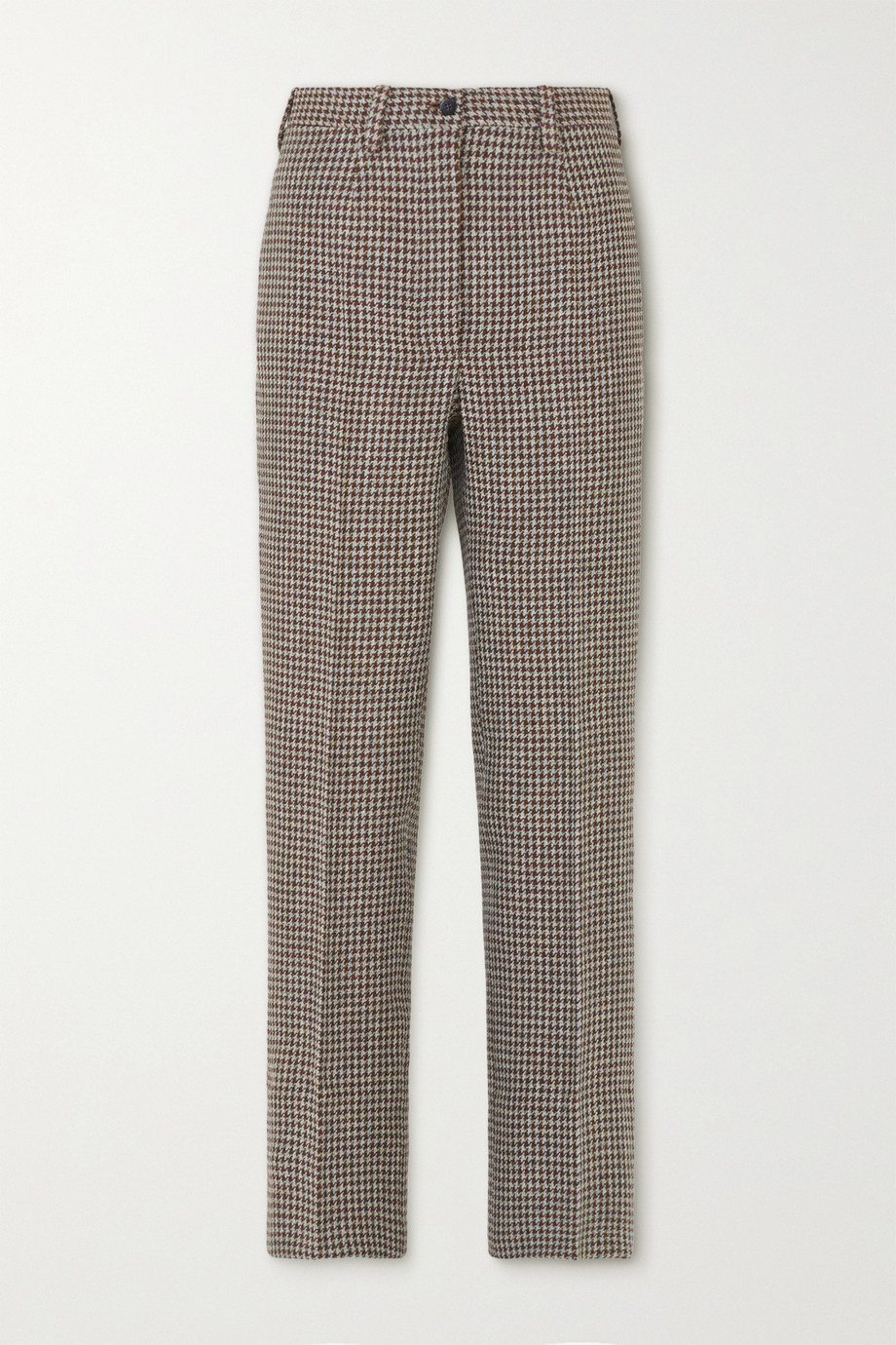Giuliva Heritage The Altea houndstooth wool straight-leg pants