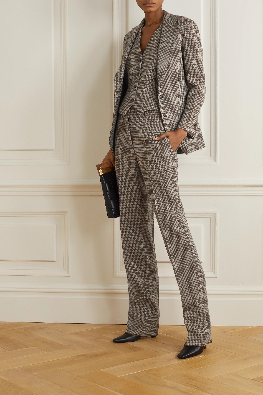 Giuliva Heritage Pantalon droit en laine pied-de-poule The Altea