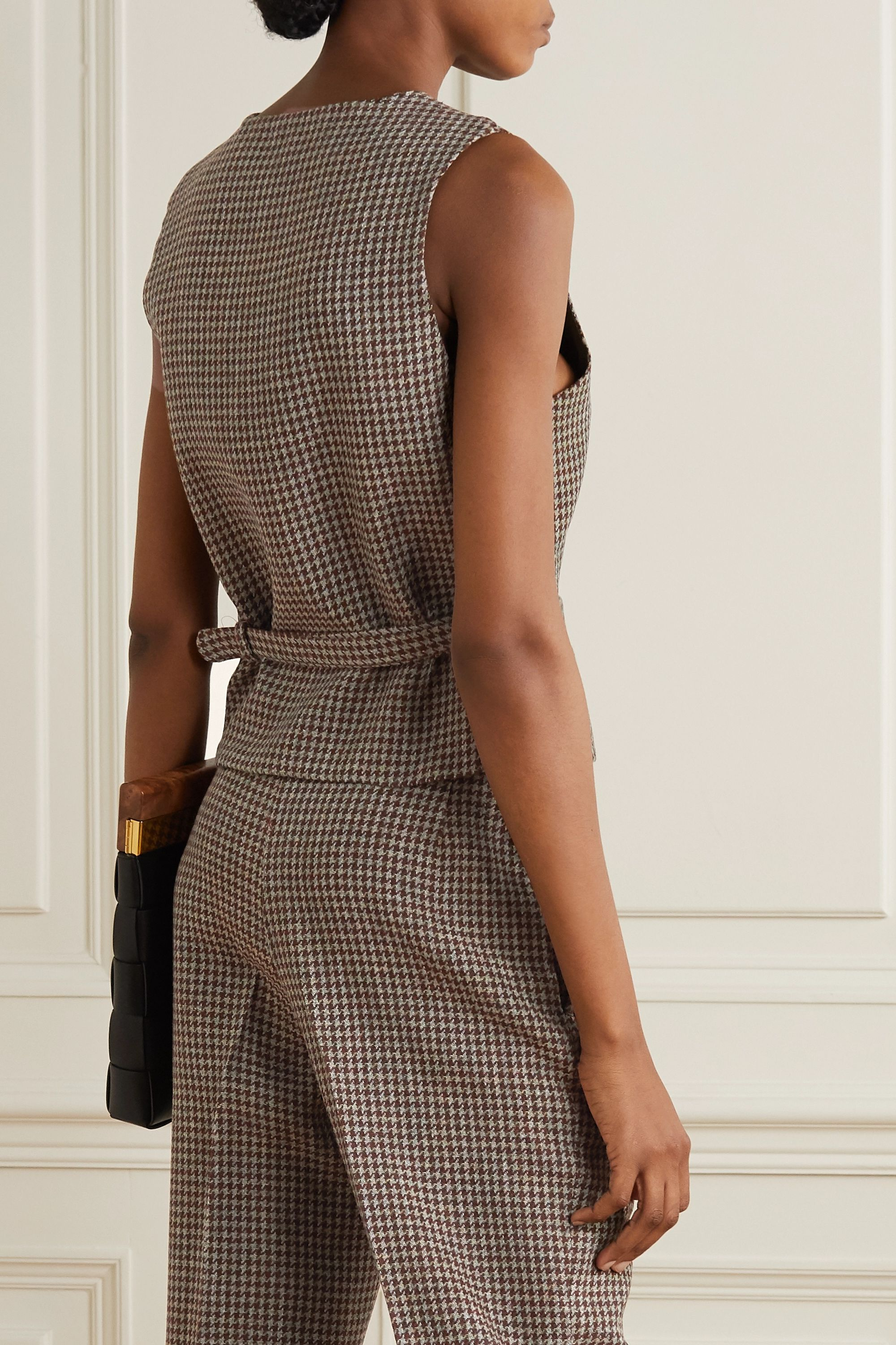Giuliva Heritage The Andrea houndstooth wool vest