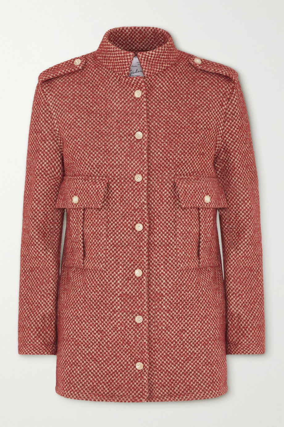 Giuliva Heritage The Officer checked wool-blend jacket