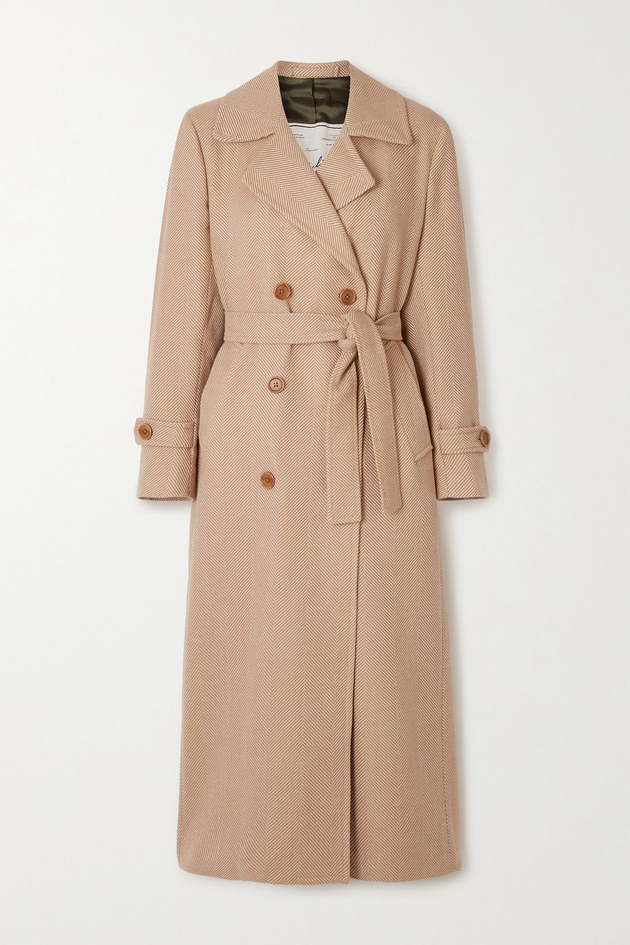 Giuliva Heritage The Christie belted double-breasted wool-gabardine trench coat