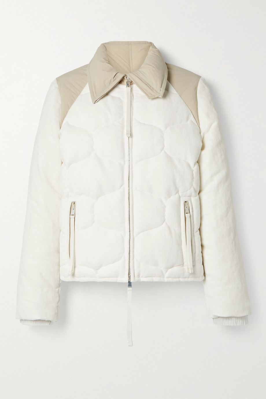Moncler Genius + 2 Moncler 1952 Margaret paneled cotton and linen-blend velvet and shell down jacket