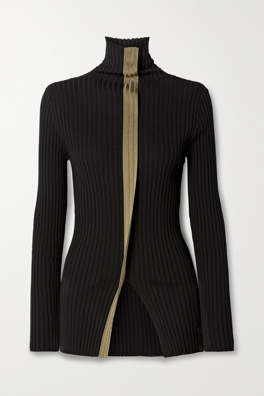 Moncler Genius + 2 Moncler 1952 two-tone ribbed wool turtleneck sweater