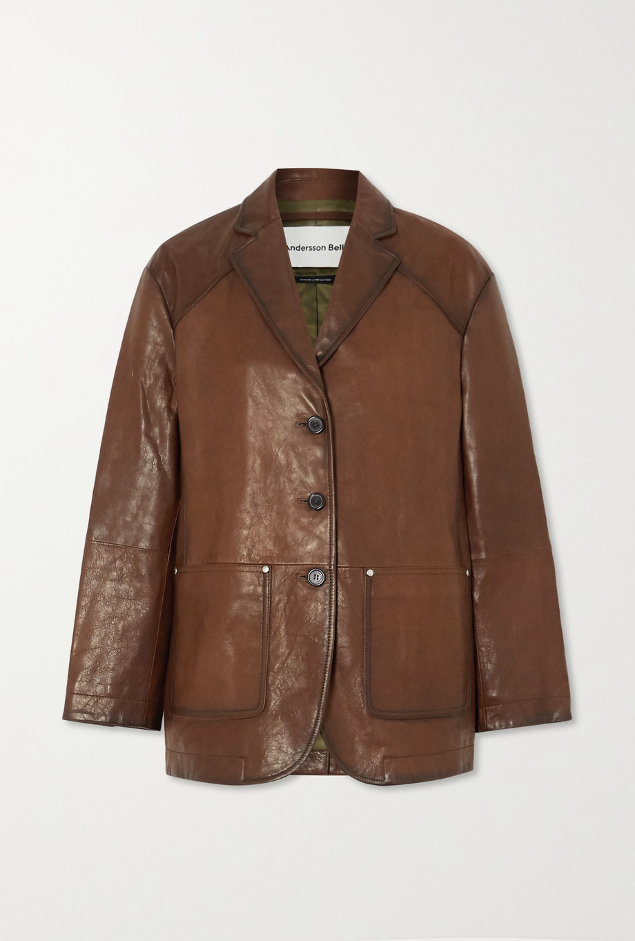 Andersson Bell Theron paneled leather blazer
