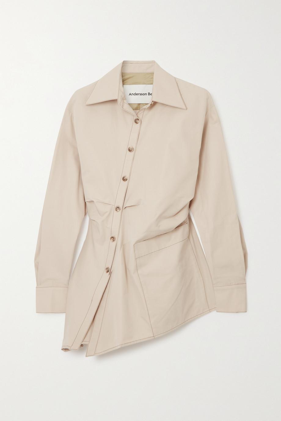 Andersson Bell Ryley asymmetric cotton-blend shirt
