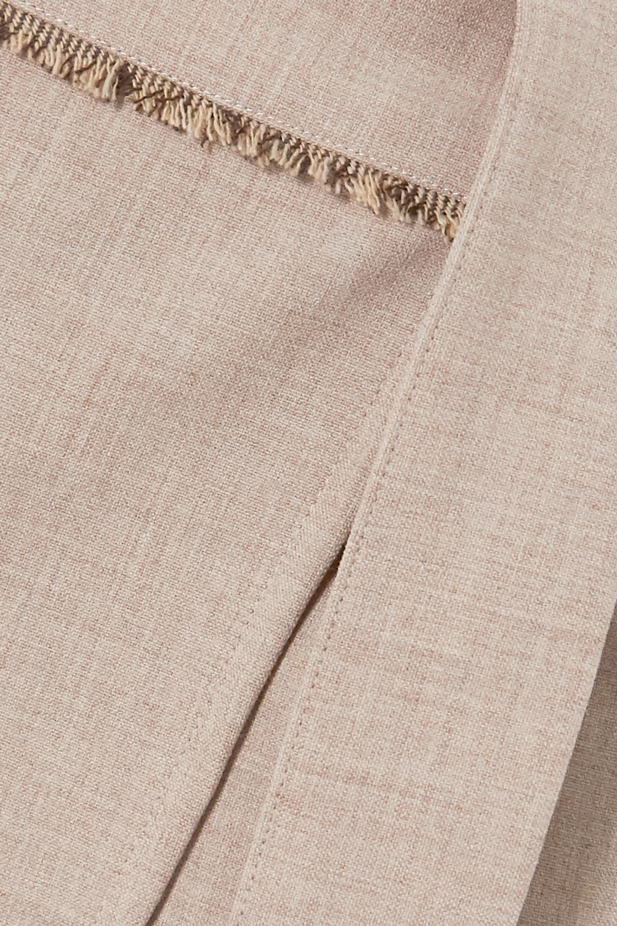 Beige Emma Belted Layered Mélange Woven Tapered Pants | Andersson Bell