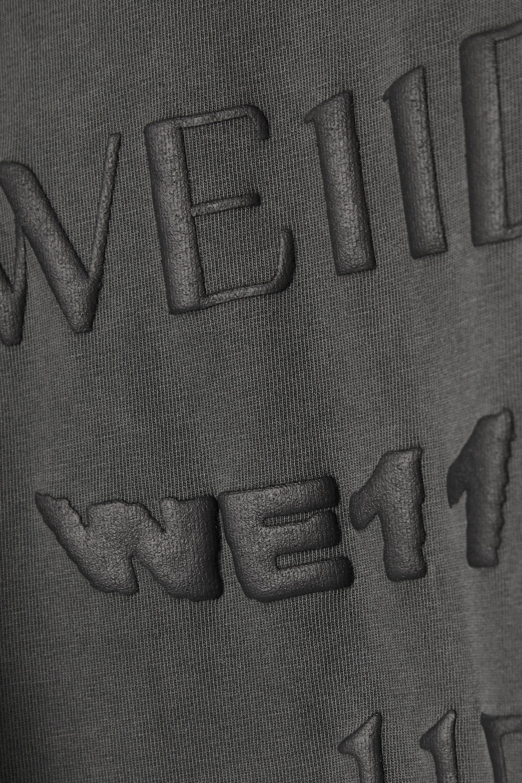 Anthracite T-shirt Oversize En Jersey De Coton Imprimé | We11done