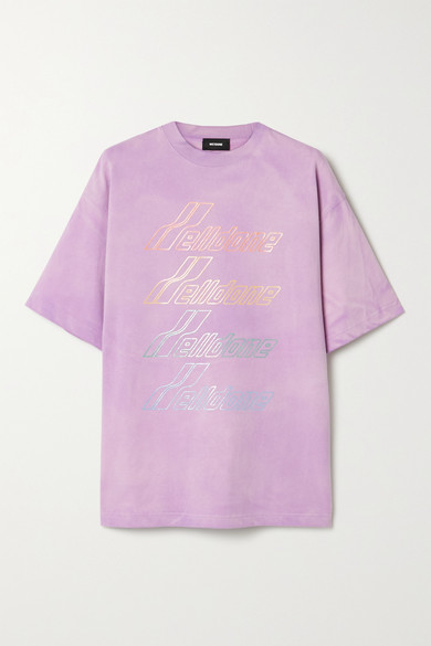 We11 Done OVERSIZED PRINTED COTTON-JERSEY T-SHIRT