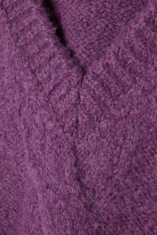 we11done Oversized appliquéd cable-knit vest