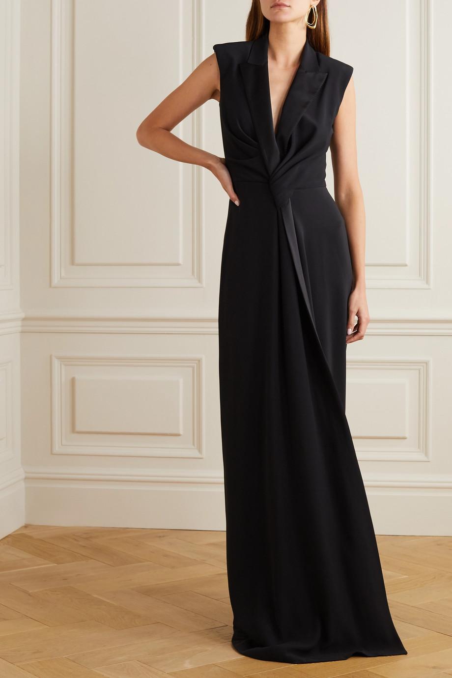 Alexander McQueen Draped crepe gown