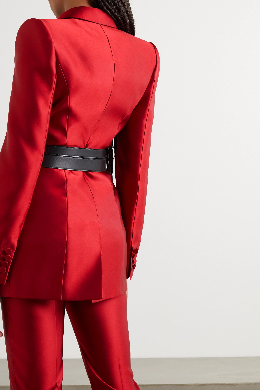 Alexander McQueen Double-breasted silk-satin blazer