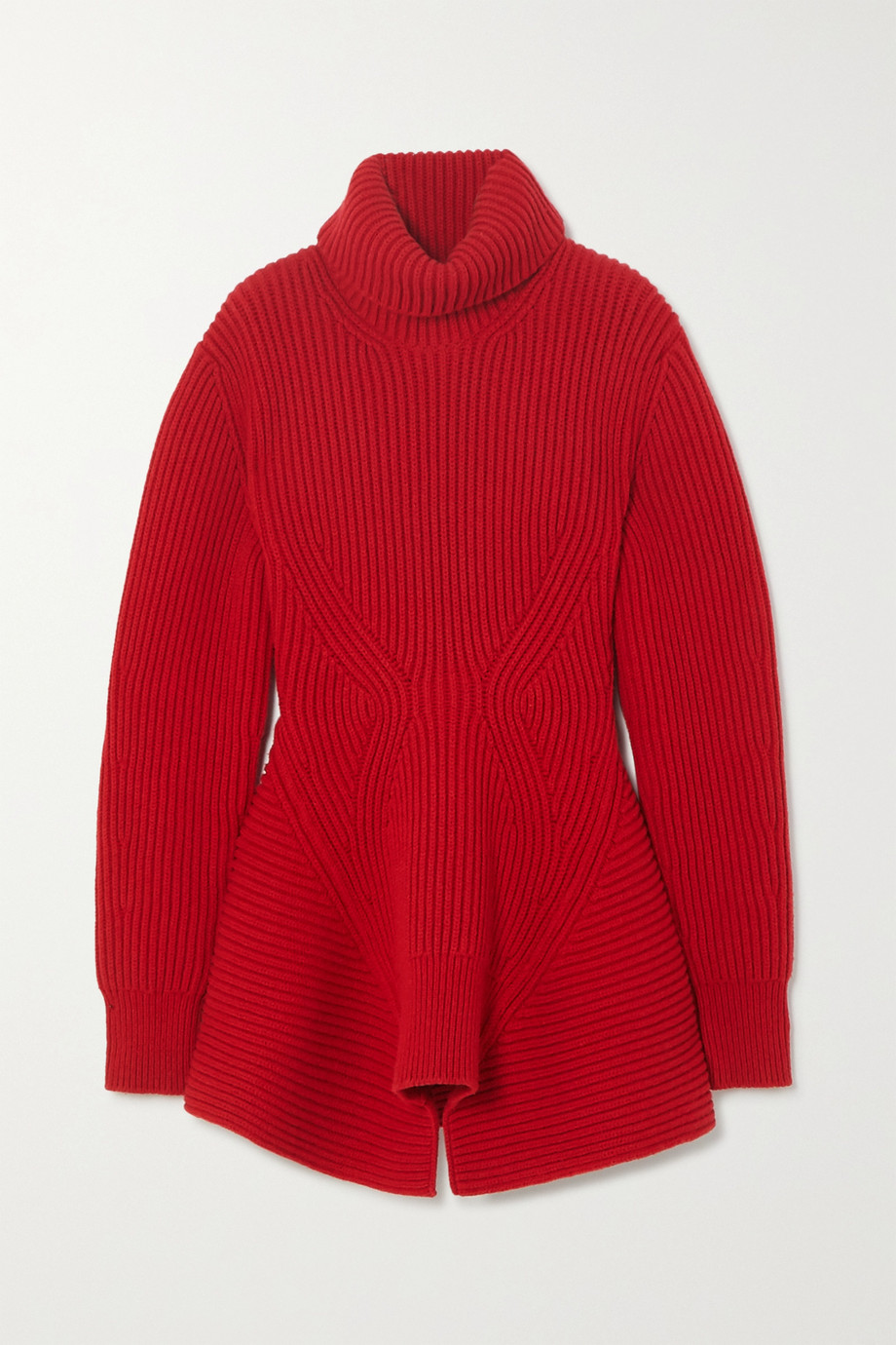 Alexander McQueen Ribbed wool and cashmere-blend turtleneck sweater