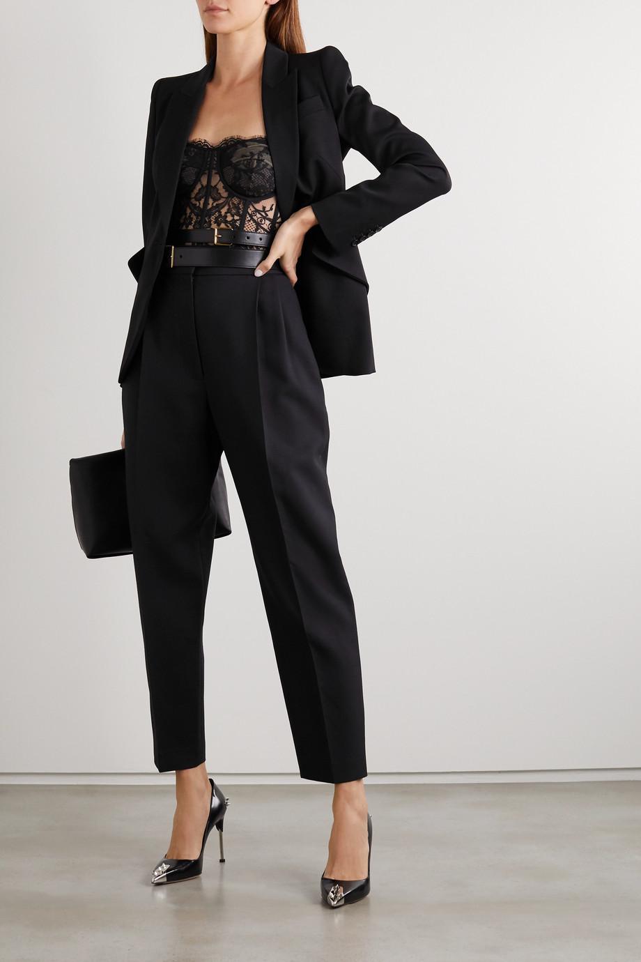 Alexander McQueen Cotton-blend lace bustier top