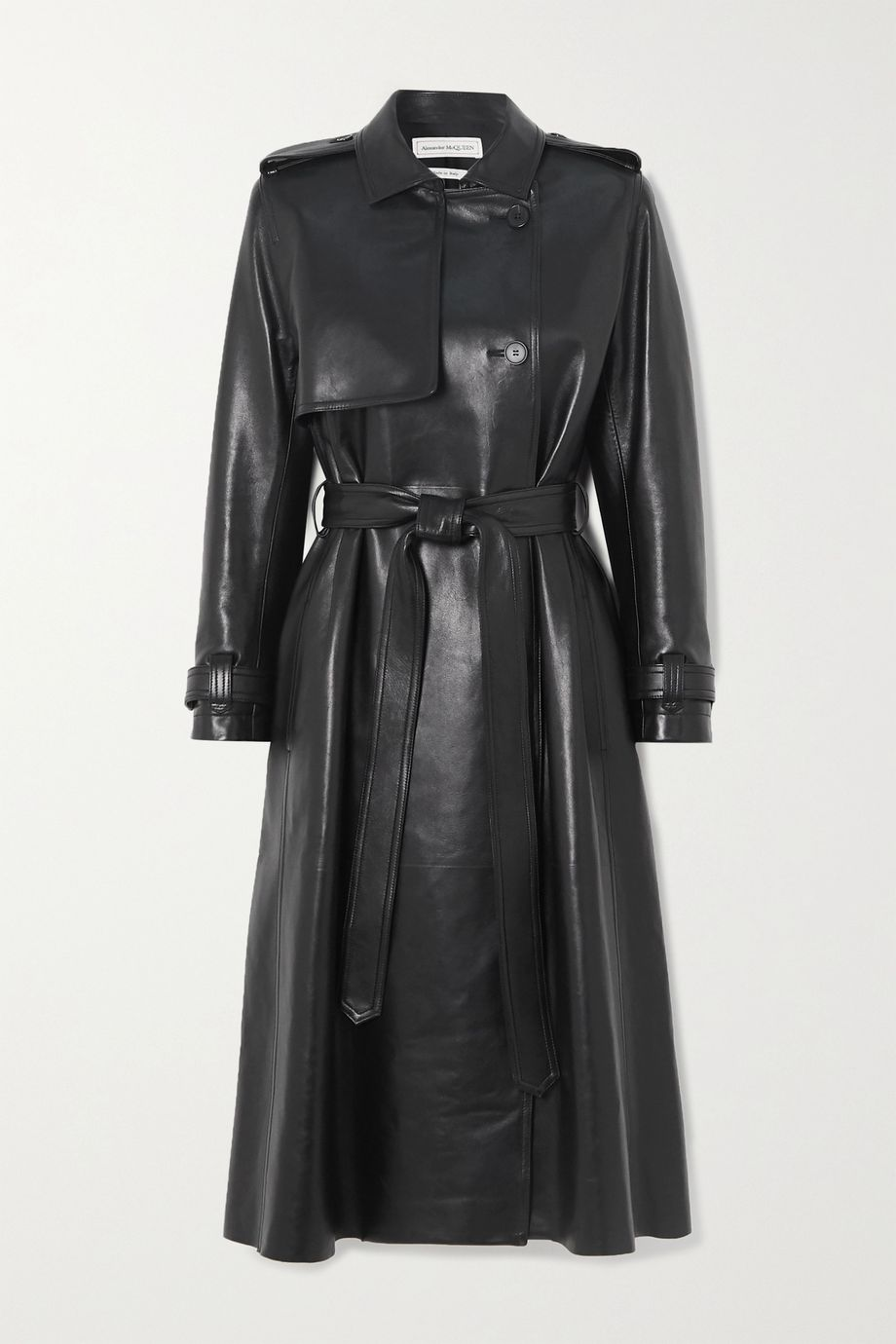 Alexander McQueen Leather trench coat