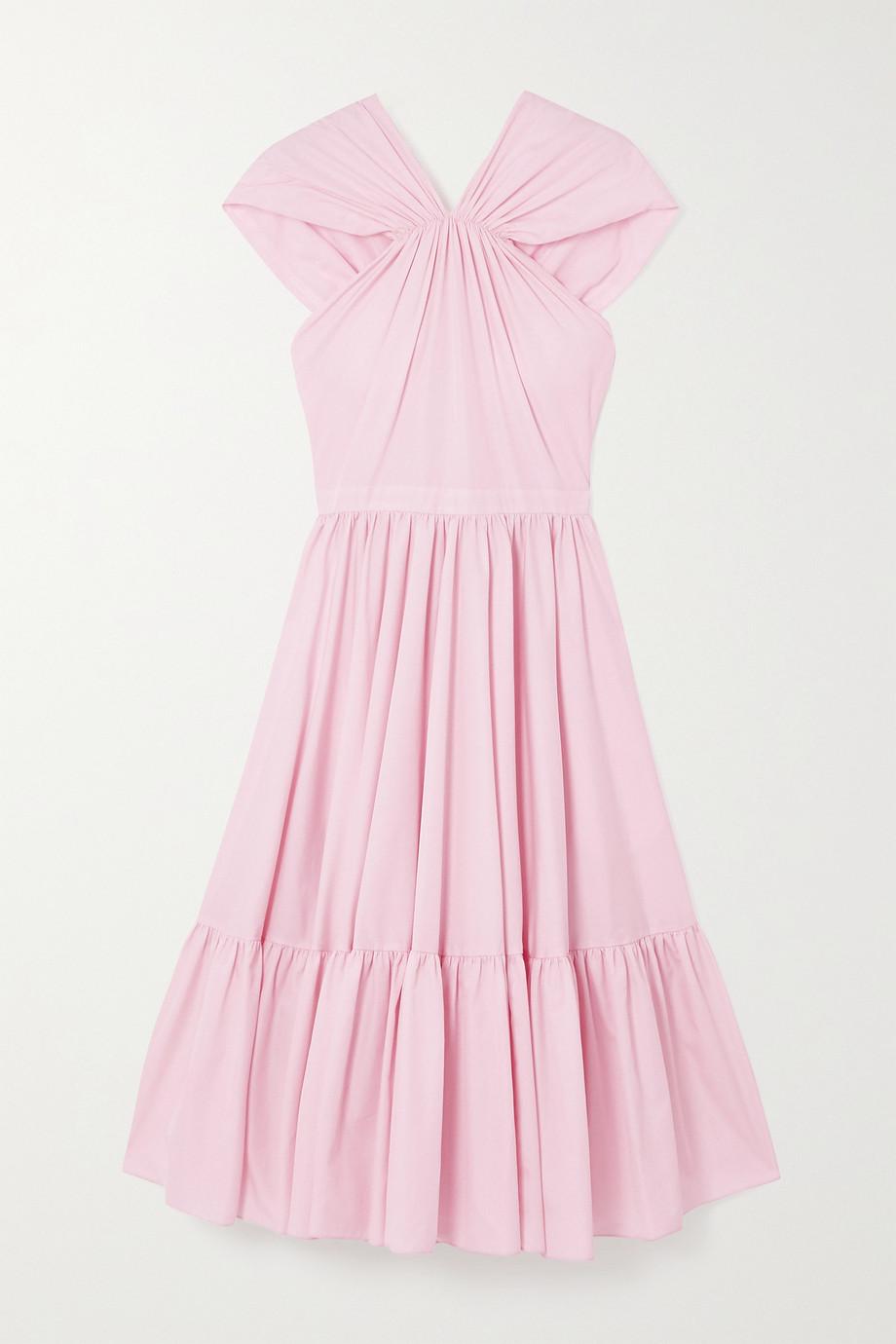 Alexander McQueen Tiered gathered cotton-poplin midi dress