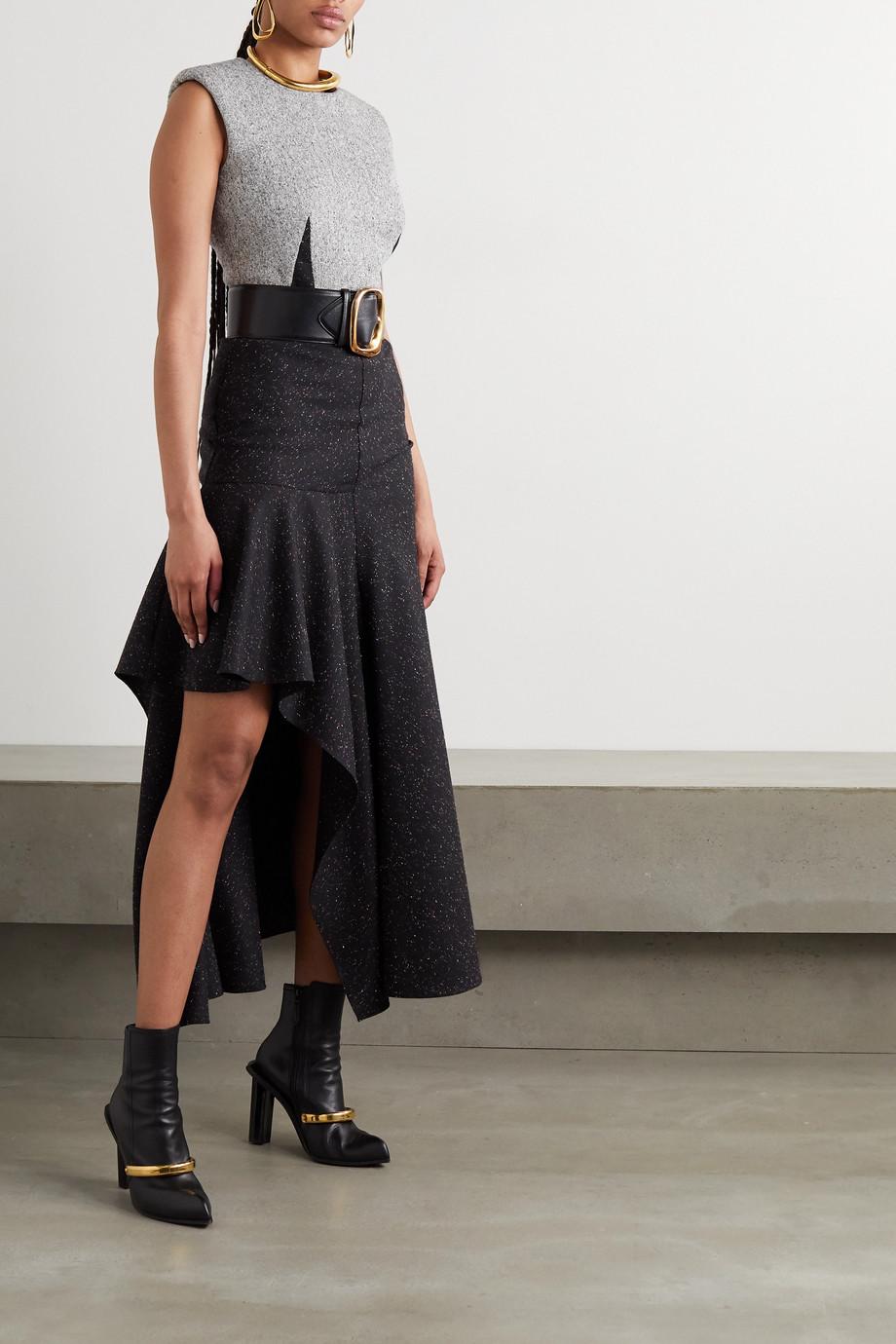 Alexander McQueen Asymmetric wool-blend maxi dress