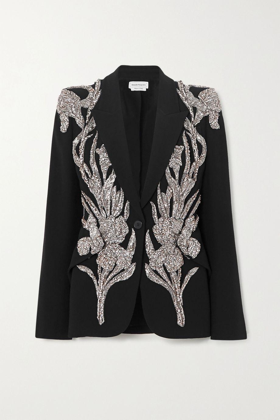 Alexander McQueen 带缀饰斜纹布西装外套