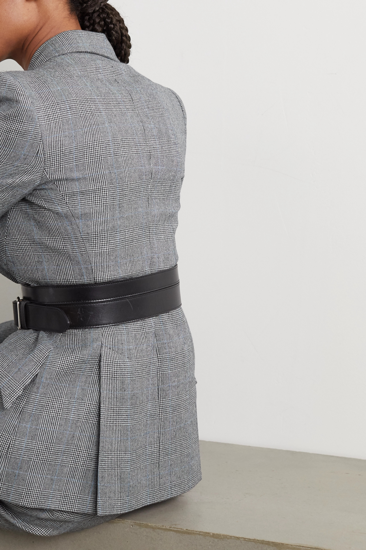 Alexander McQueen Blazer en laine et cachemire mélangés prince-de-galles