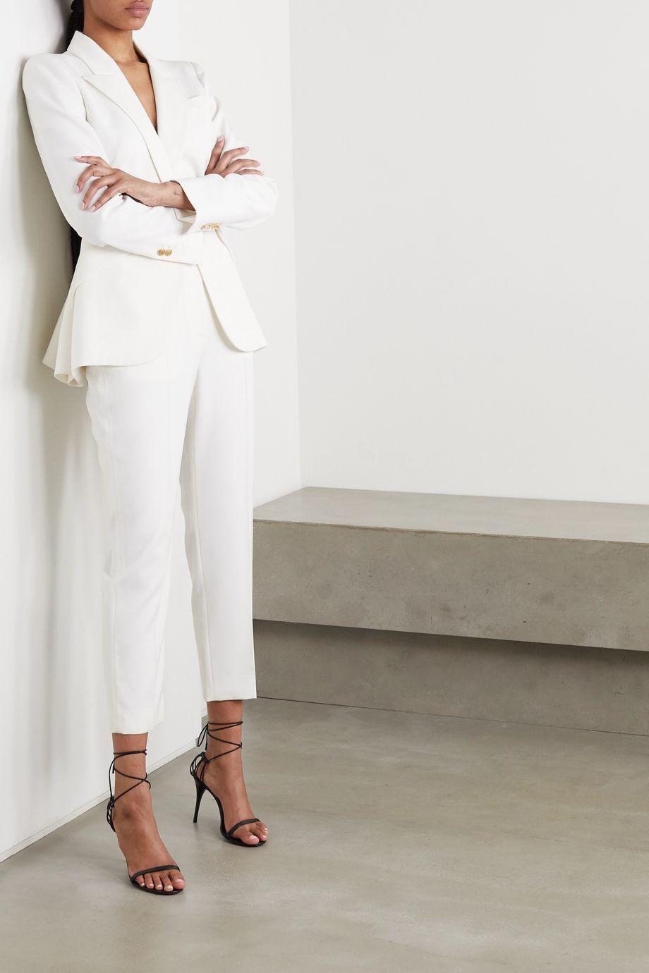 Alexander McQueen Wool-twill peplum blazer
