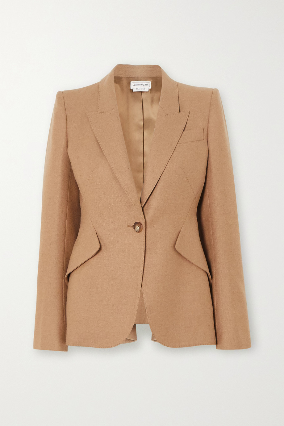 Alexander McQueen Ruffled wool blazer