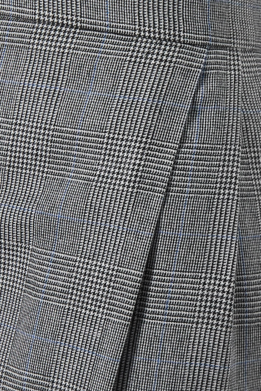 Alexander McQueen Pantalon fuselé en laine et cachemire mélangés prince-de-galles