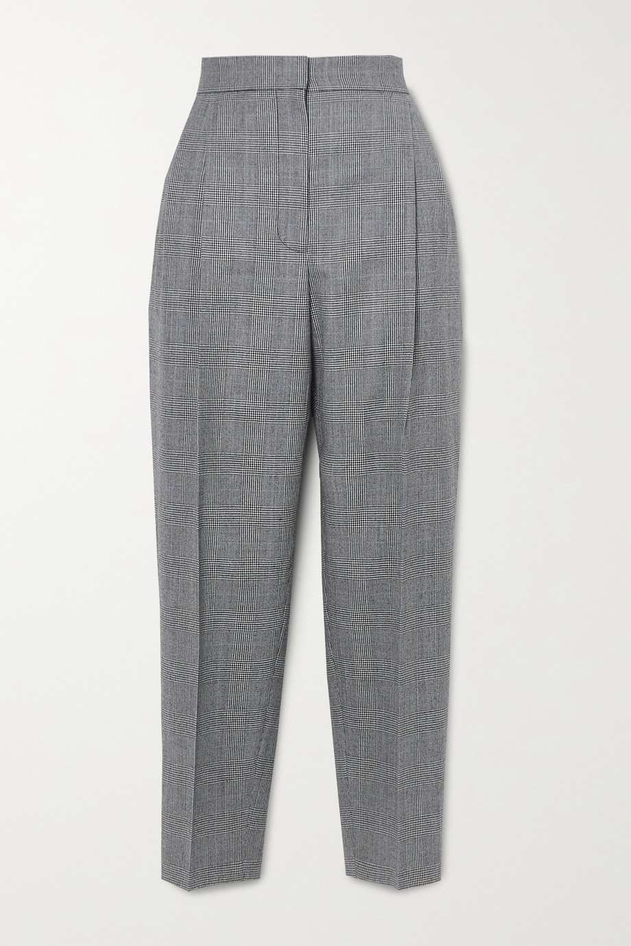 Alexander McQueen Prince of Wales checked wool and cashmere-blend tapered pants