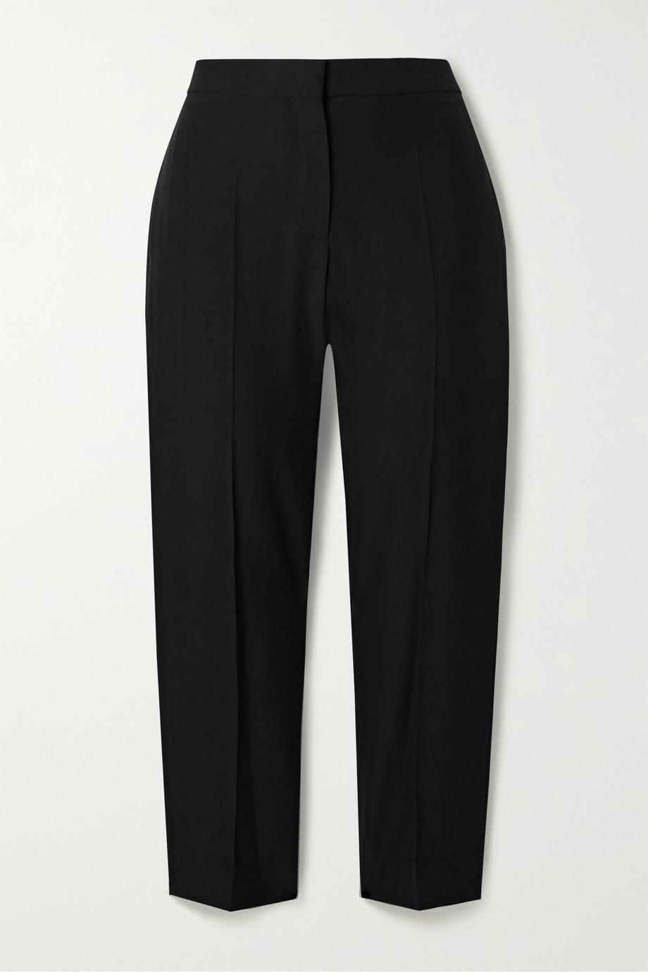 Alexander McQueen Cropped woven straight-leg pants