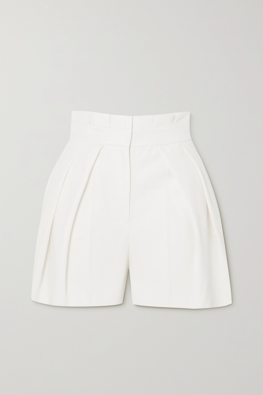 Alexander McQueen Pleated wool-twill shorts