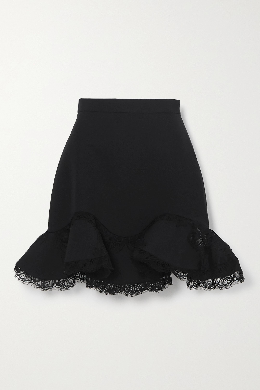 wool mini skirt Hip skirt