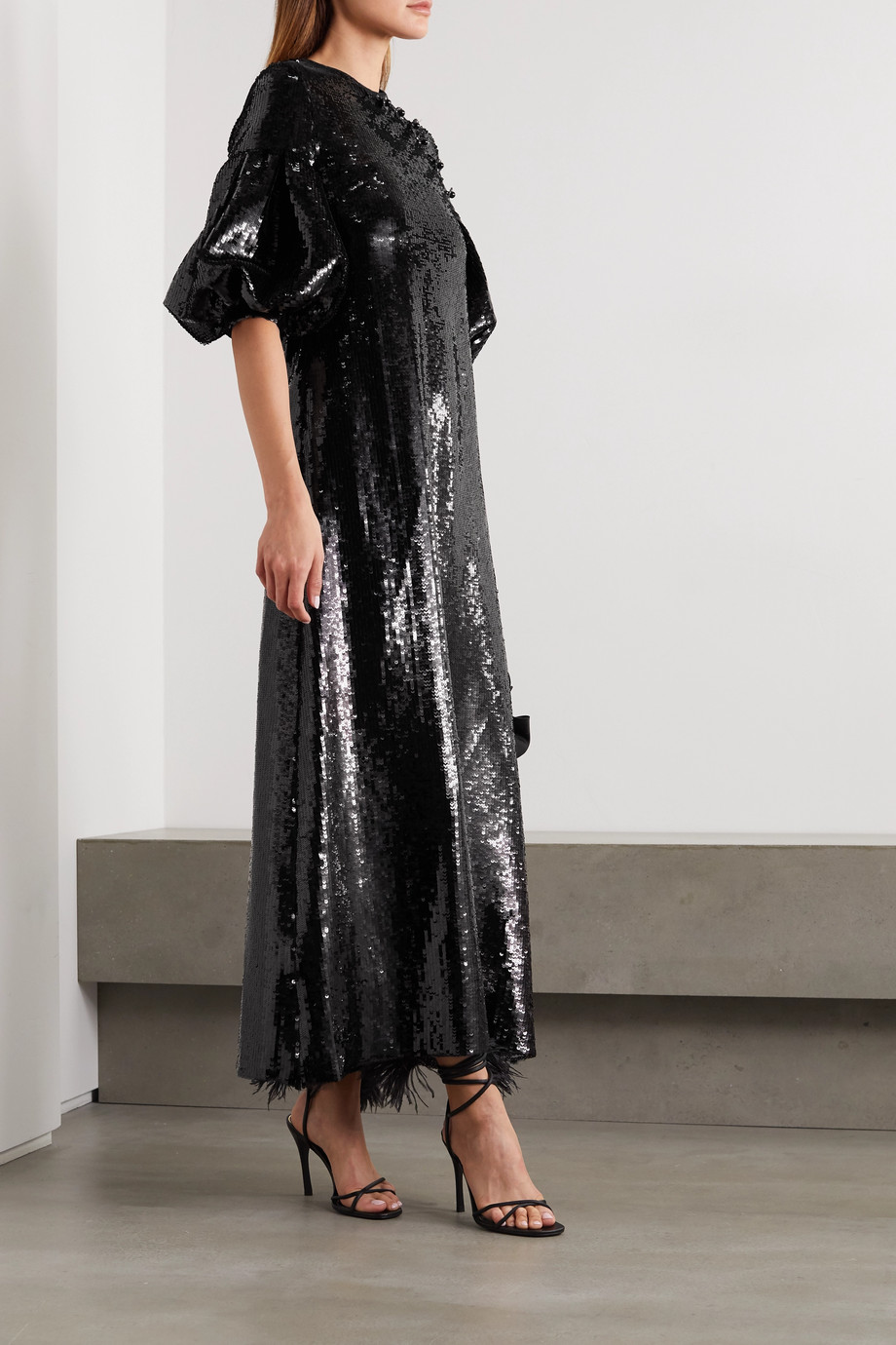 Huishan Zhang Celine sequined georgette maxi dress