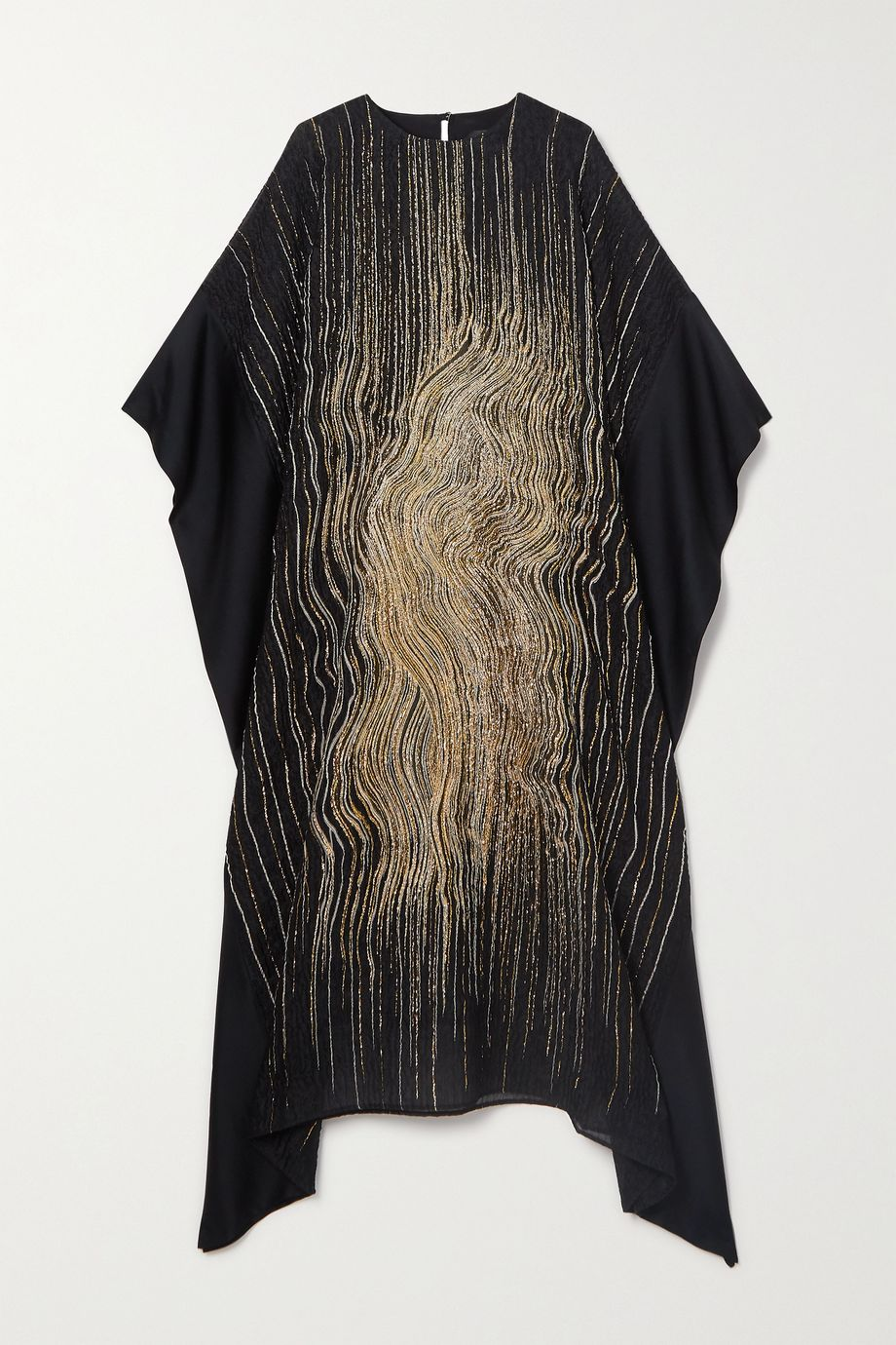 Taller Marmo Madame Butterfly metallic silk-blend cloqué and satin kaftan