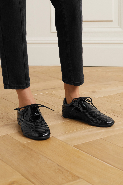 Balenciaga Zen Sneakers aus gestepptem Lacklederimitat