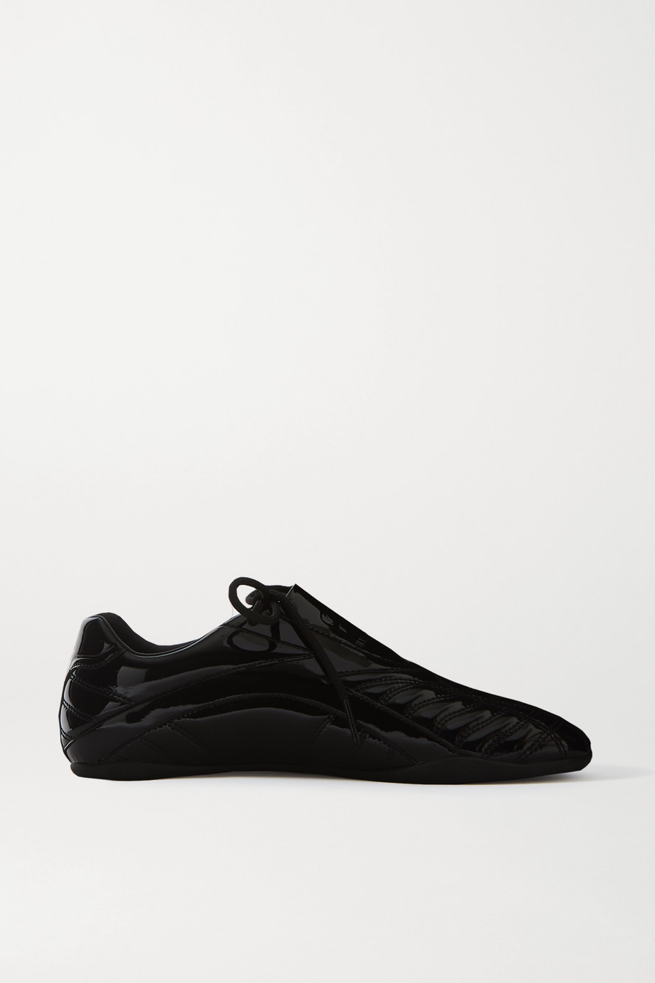 Balenciaga Zen quilted faux patent-leather sneakers