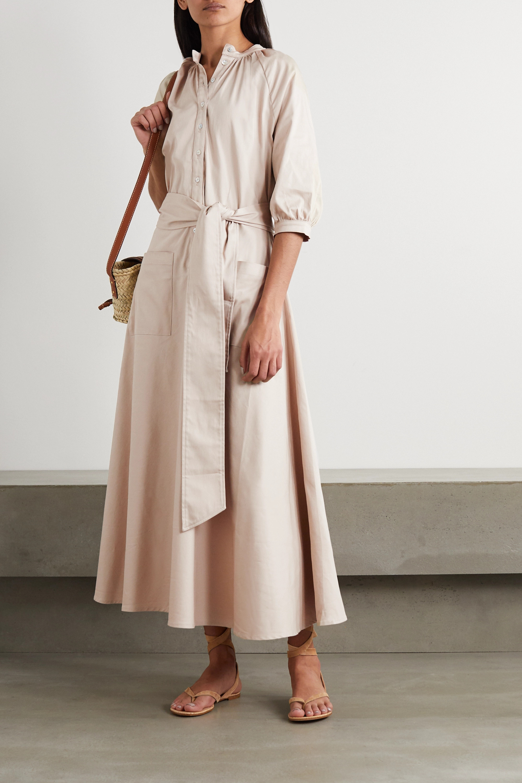 Àcheval Pampa Robe-chemise midi en coton mélangé à ceinture Argentina