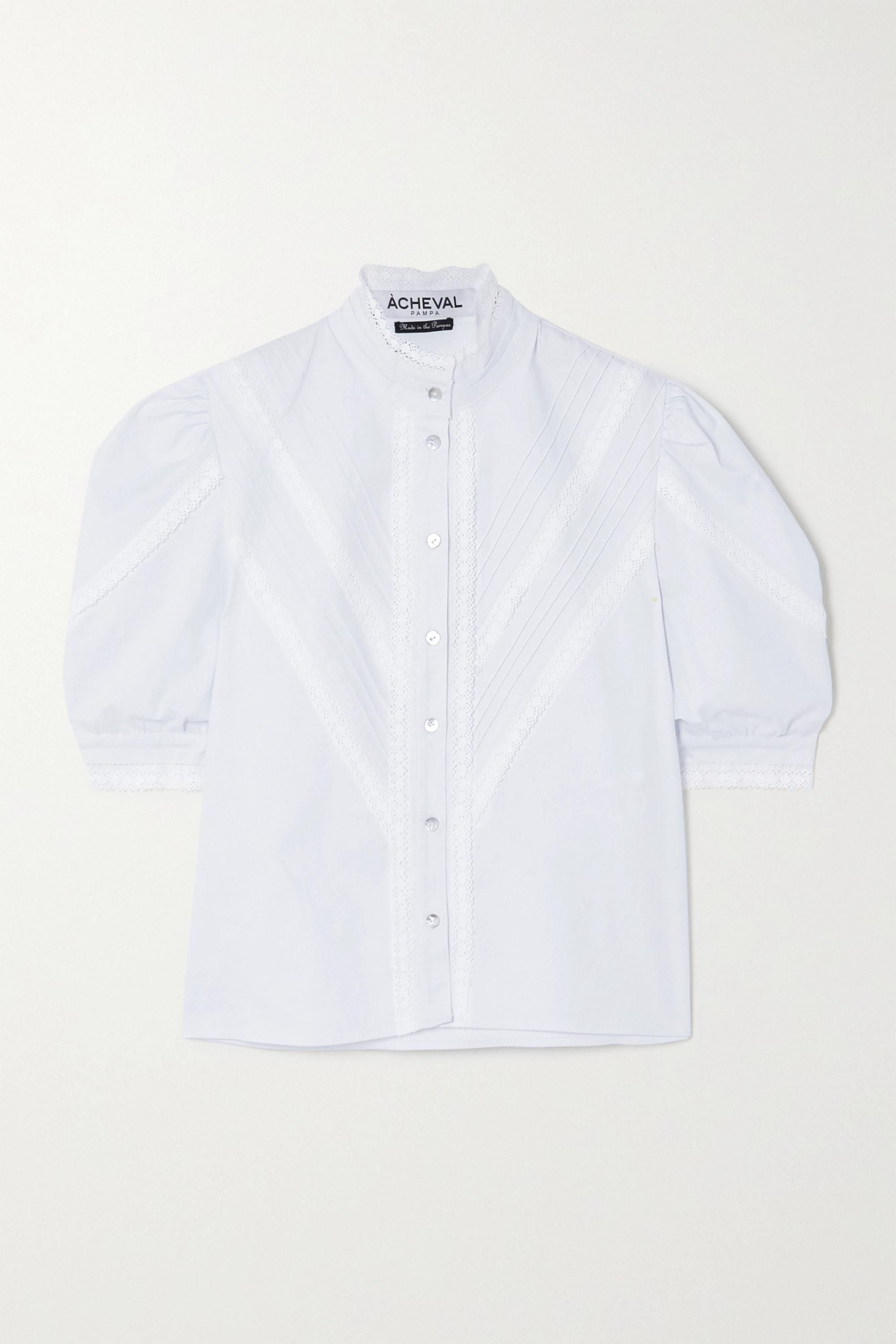 AP Lace Shirt White