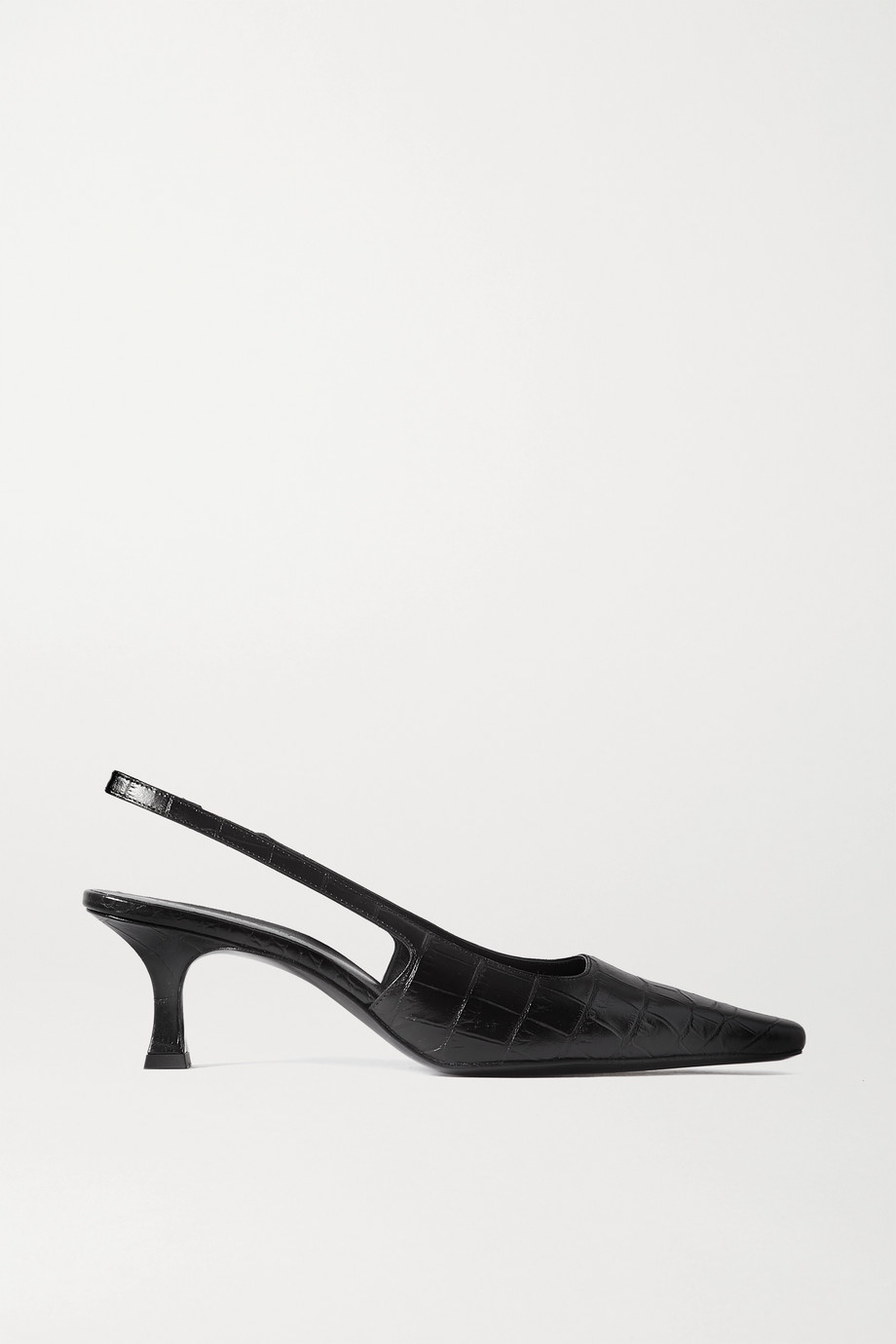 Magda Butrym Croc-effect leather slingback pumps