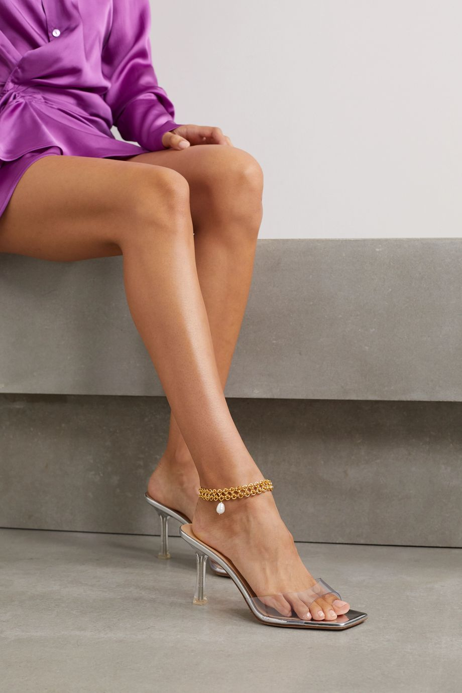 Magda Butrym Gold-plated pearl anklet