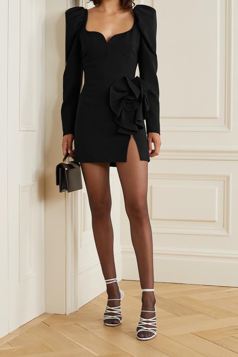 Magda Butrym Minikleid aus Crêpe aus Stretch-Wolle mit Verzierung
