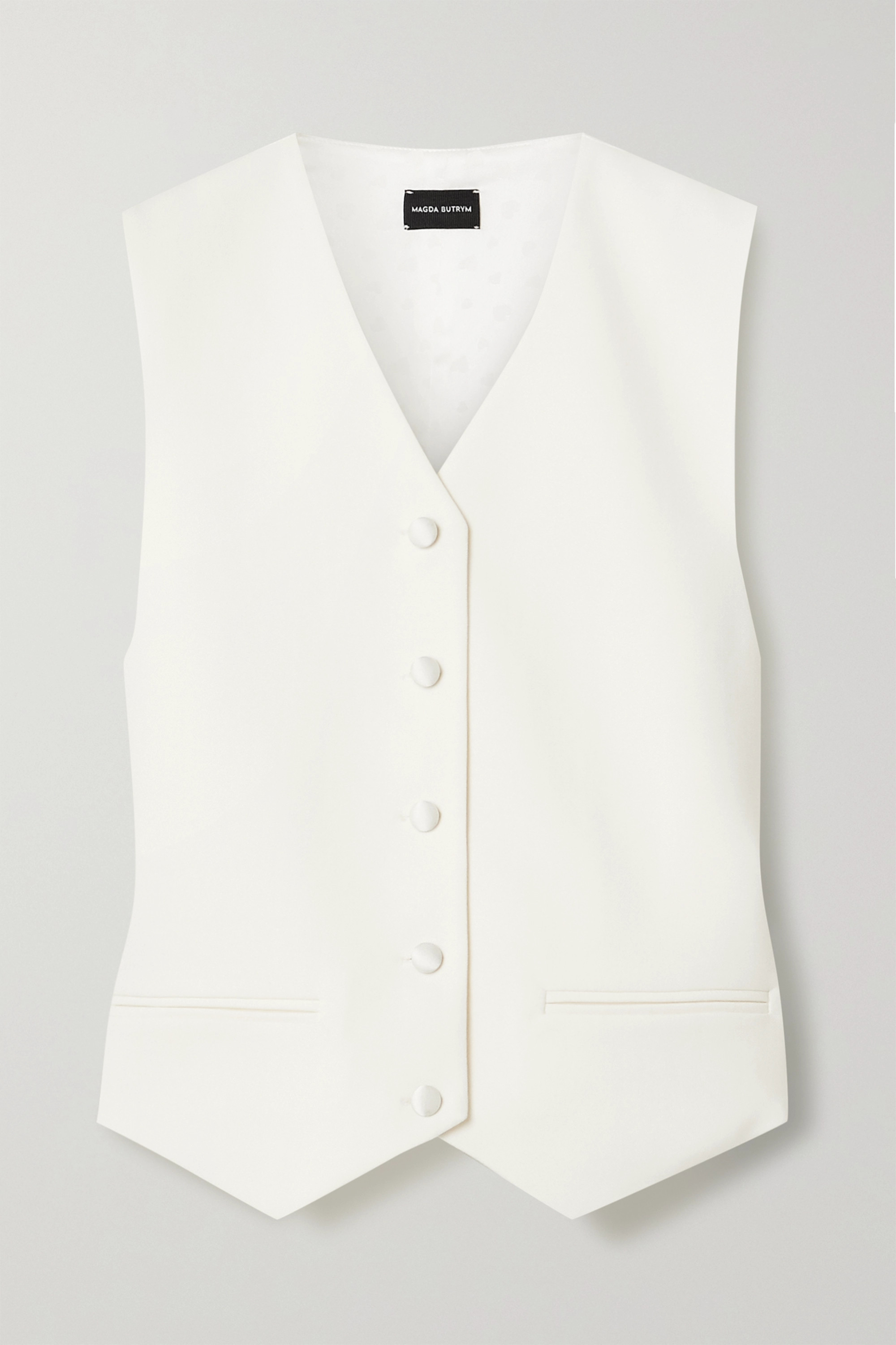 Magda Butrym Paneled wool-twill and satin vest