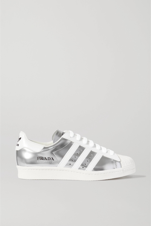 Adidas Original superstar Turnschuhe Silber Metallic Hülle