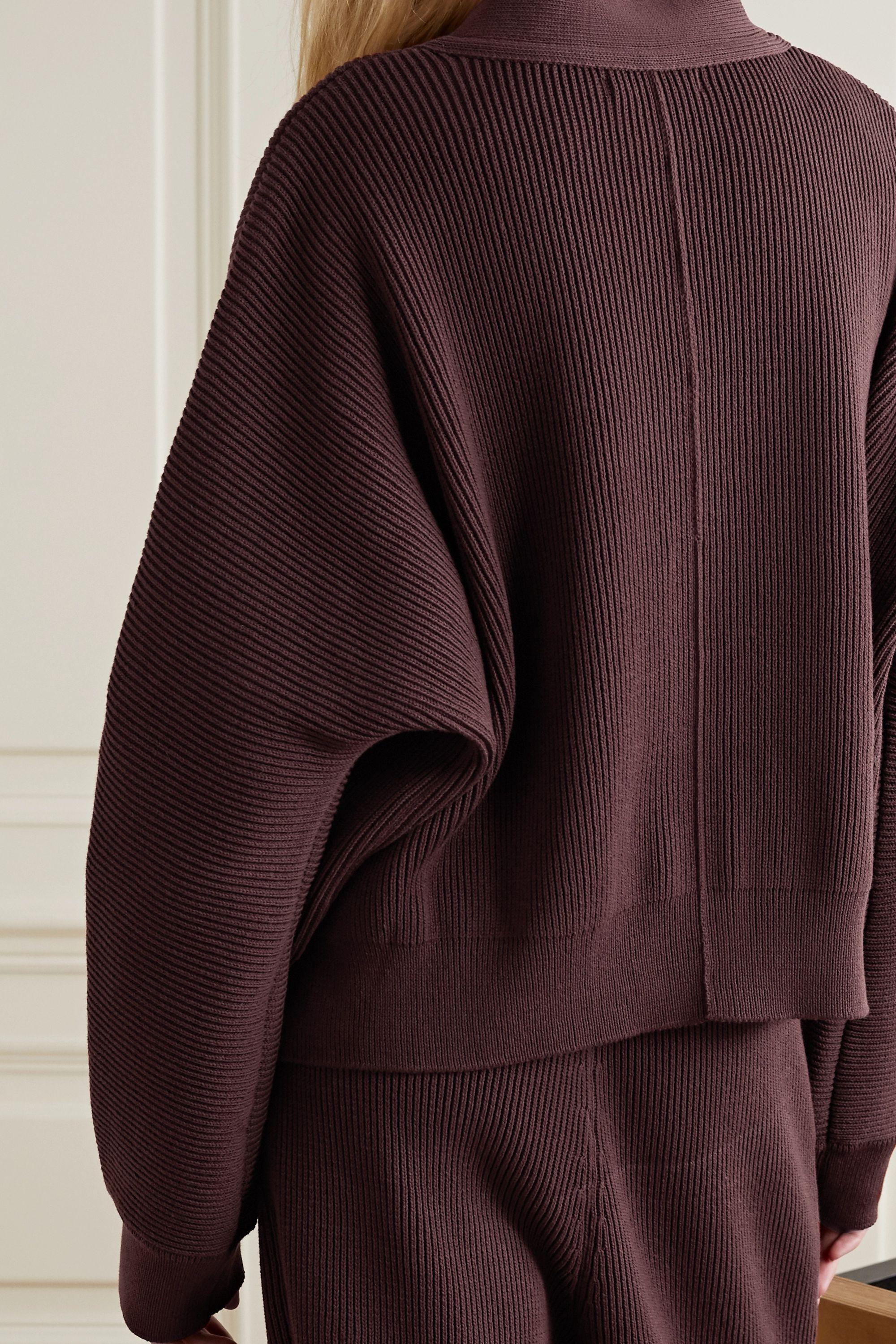 LE 17 SEPTEMBRE Wandelbarer mehrlagiger Cardigan aus gerippter Baumwolle
