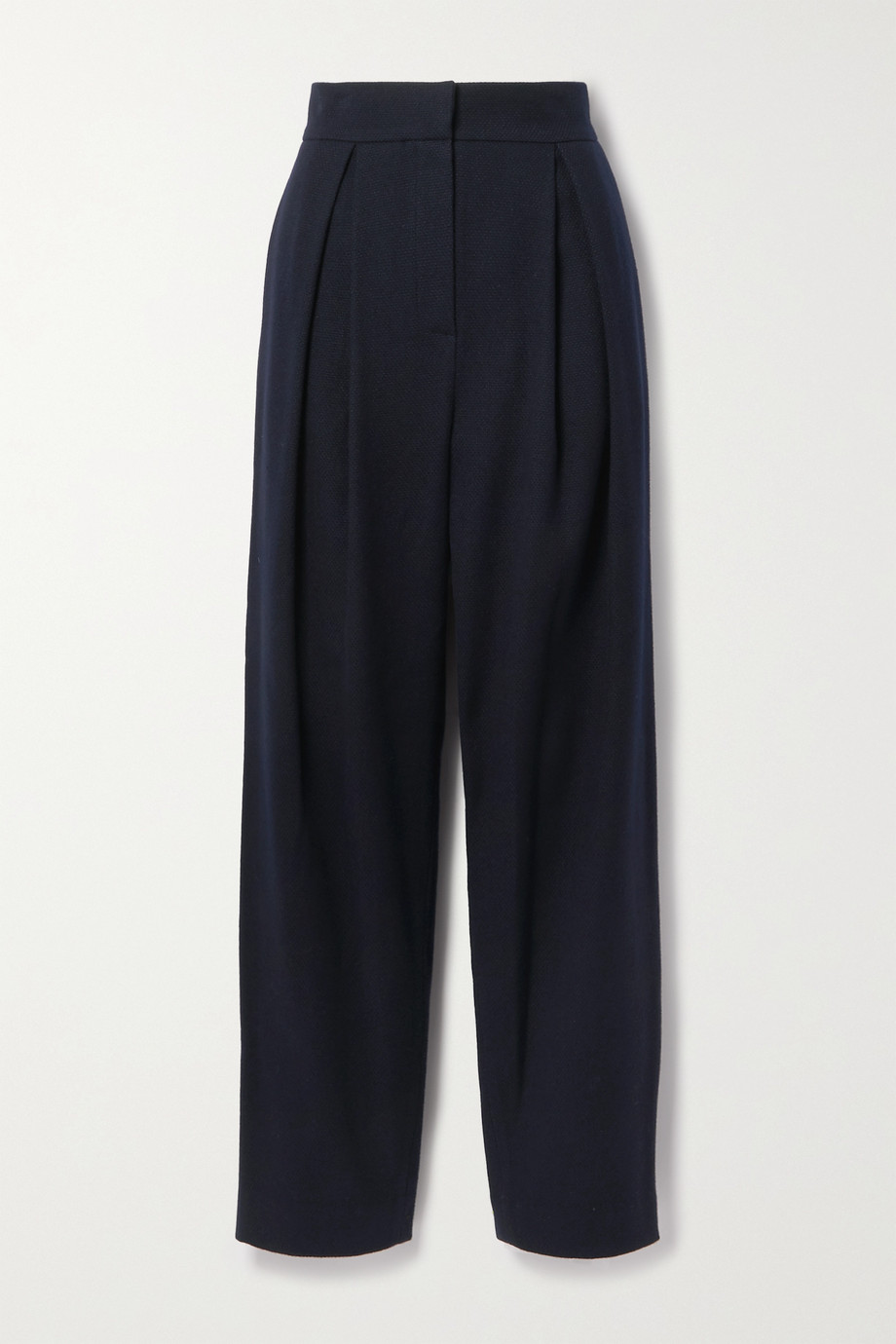 LE 17 SEPTEMBRE Pleated wool tapered pants