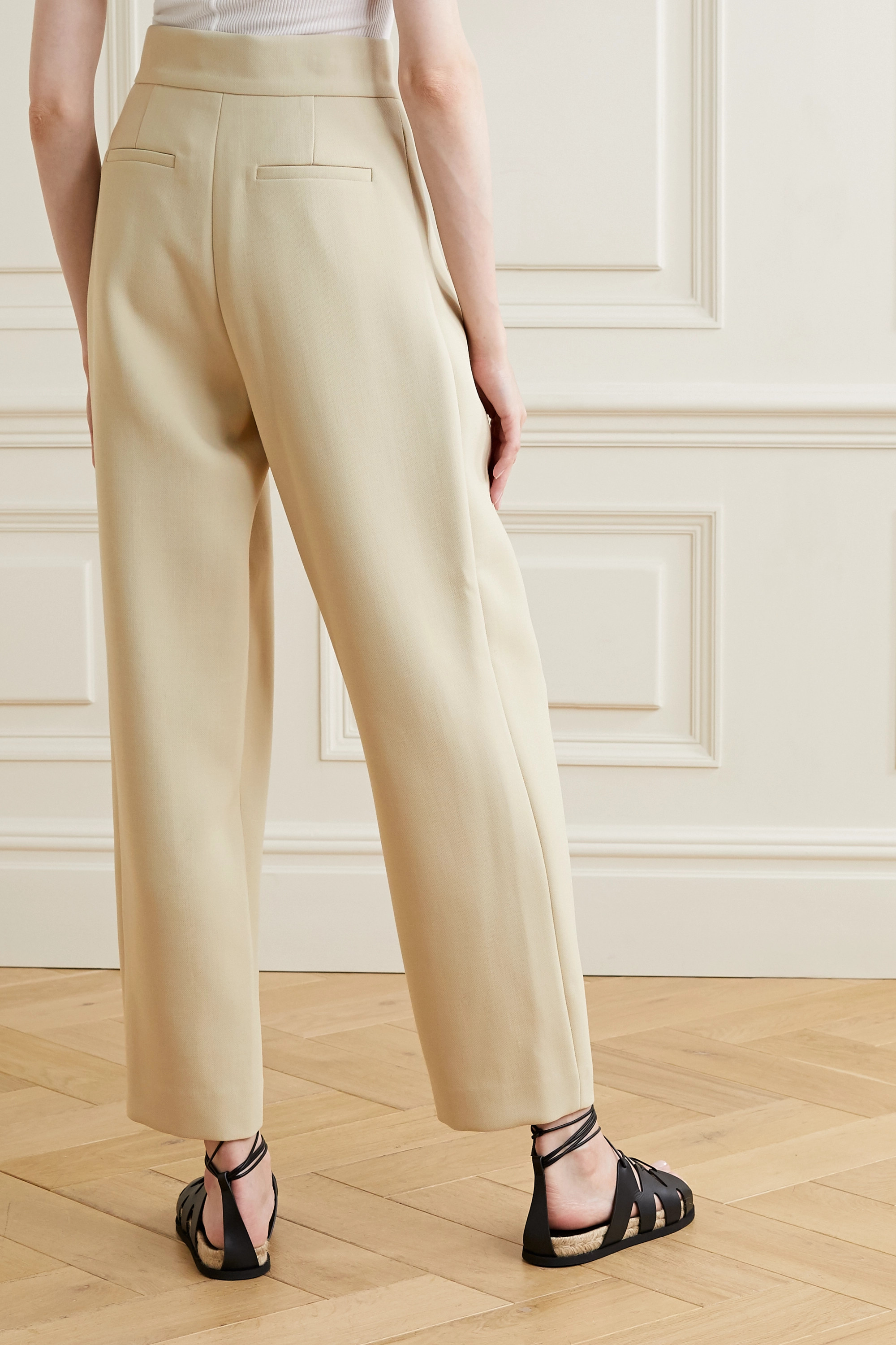 LE 17 SEPTEMBRE Pleated woven tapered pants