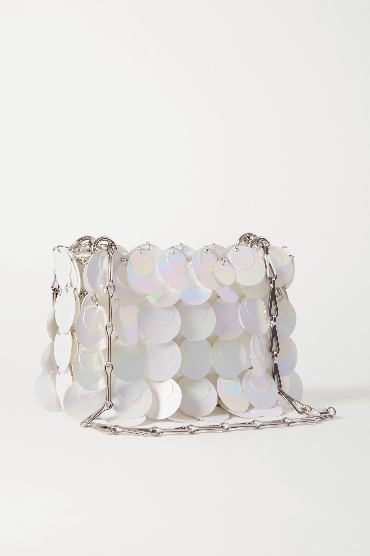 Paco Rabanne Nano Bridal Sparkle paillette-embellished faux leather shoulder bag