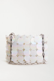 Paco Rabanne Nano Bridal Sparkle paillette-embellished faux leather shoulder bag