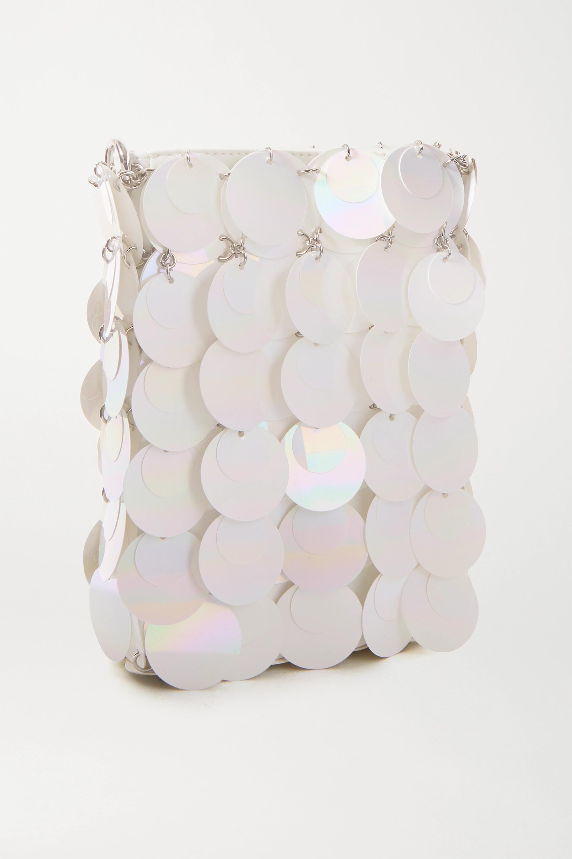 Paco Rabanne Mini Bridal Sparkle paillette-embellished faux leather shoulder bag