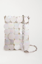 Paco Rabanne Mini Bridal Sparkle paillette-embellished faux leather shoulder bag