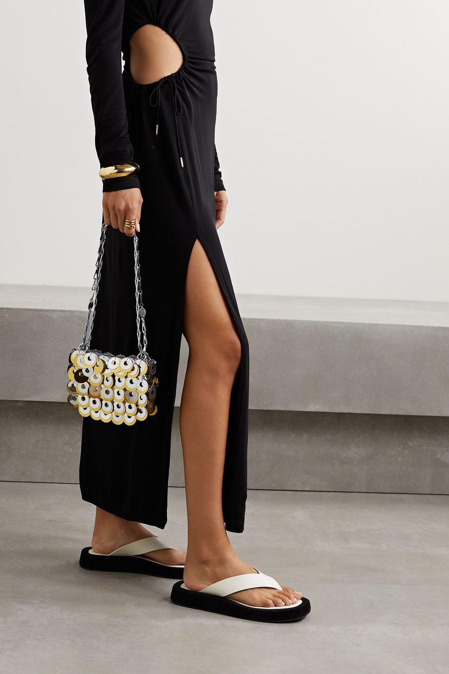 Paco Rabanne Paillette-embellished chainmail shoulder bag